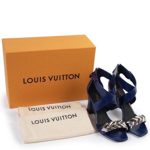 Louis Vuitton Blue Leather Heels - Size 37,5