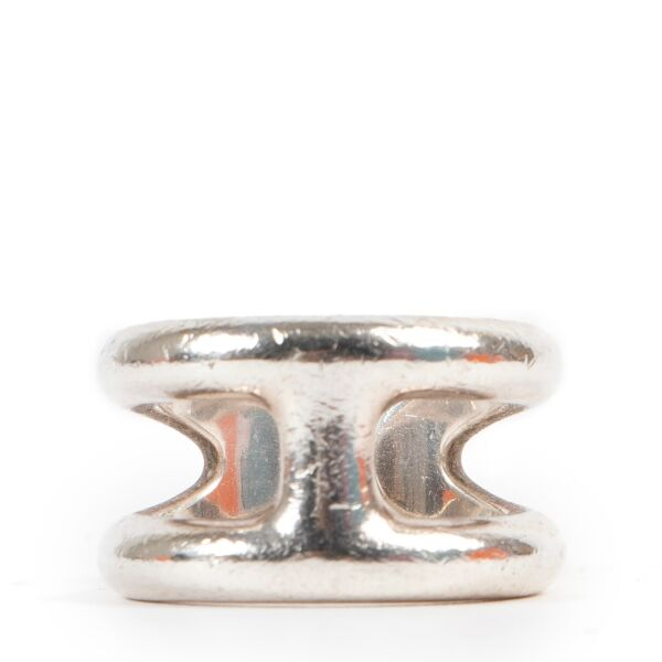 Shop safe online at Labellov in Antwerp this 100% authentic second hand Hermès Silver Osmose Ring - Size 52