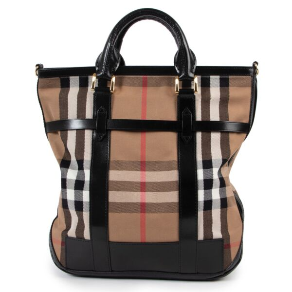 Burberry Checked Tote Bag