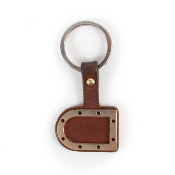 Delvaux Brown Key Chain