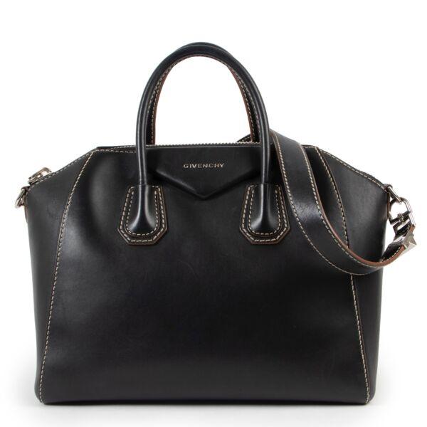 shop best designer vintage Givenchy Antigona Black Top handle at Labellov