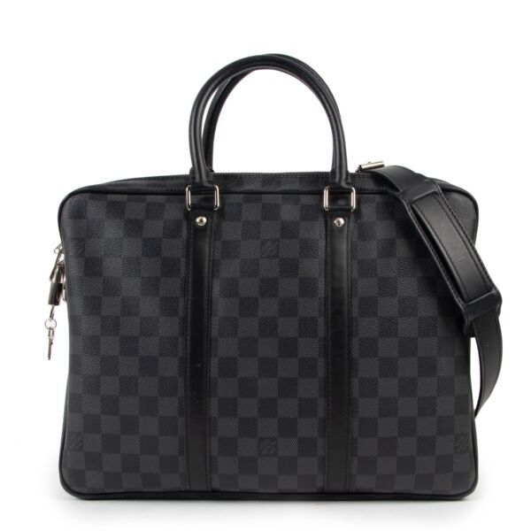 buy authentic Louis Vuitton Damier Graphite Porte-Documents Voyage PM at Labellov for the best price