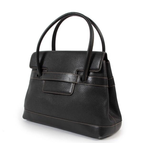 Delvaux Deux Black Top Handle Bag