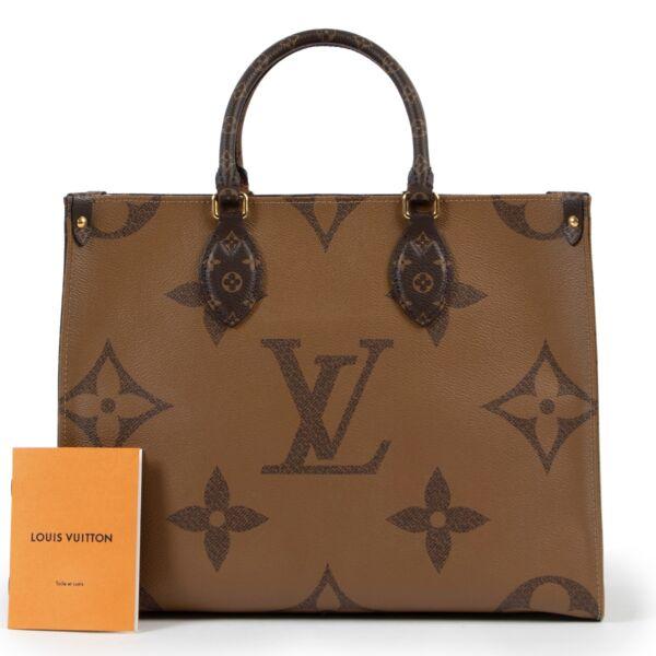 Louis Vuitton Monogram Onthego MM Reverse Giant Cabas