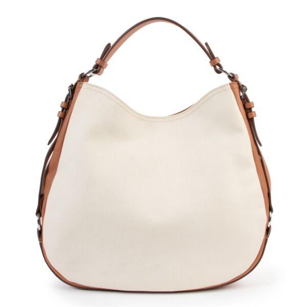 Ralph Lauren Canvas/ Cognac  Shoulder bag
