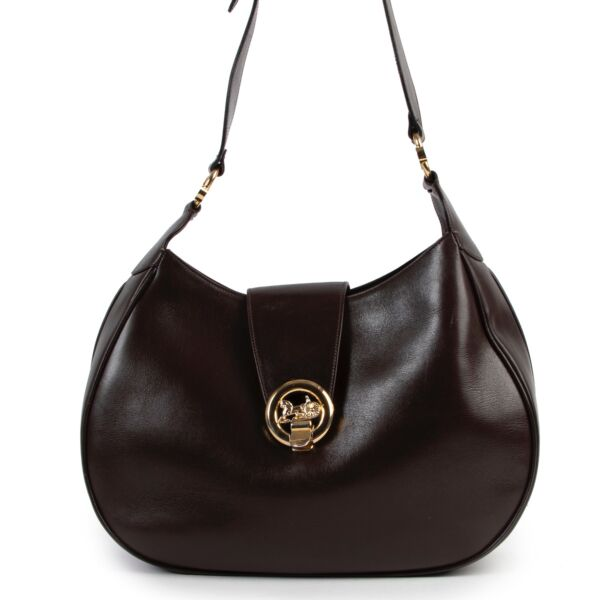 Shop safe online at LABELLOV in Antwerp this 100% authentic second hand Celine Brown Leather Shoulder Bag