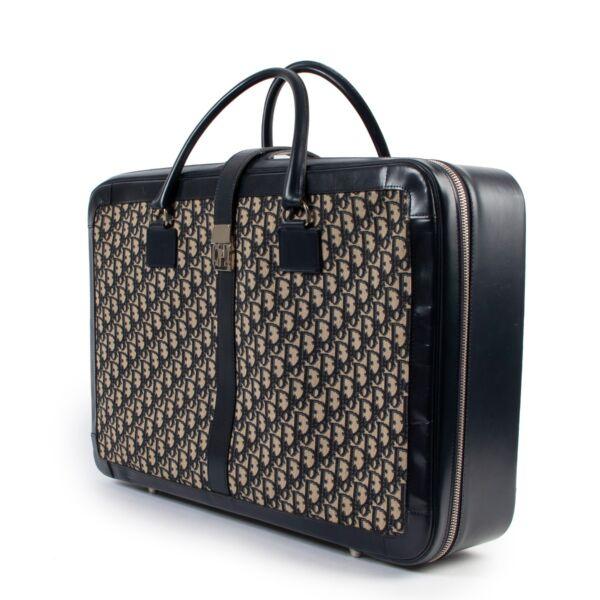 Christian Dior Vintage Oblique Monogram Medium Suitcase