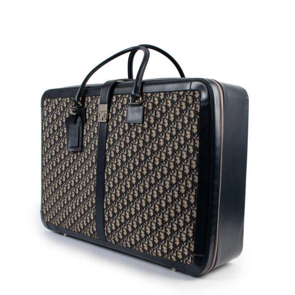 Christian Dior Vintage Oblique Monogram Large Suitcase