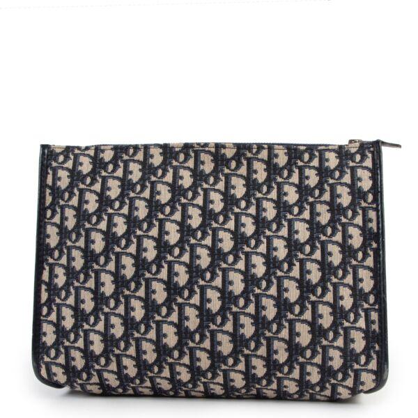 Buy an authentic second hand Christian Dior Oblique pattern pochette at Labellov