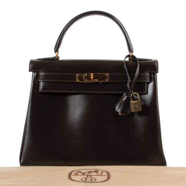 Hermès Kelly 28 Box Calf Marron