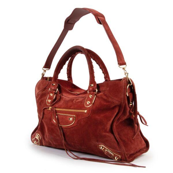 Balenciaga Brick Suede City Bag