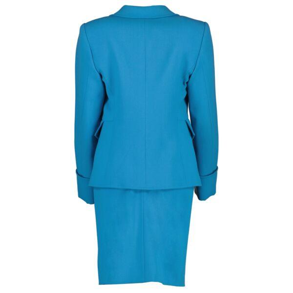 Christian Lacroix Vintage Turquoise Skirt Suit Set - Size FR 38