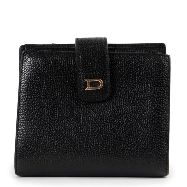Black Delvaux wallet, Delvaux wallet in very good condition, Shop safe Delvaux wallet