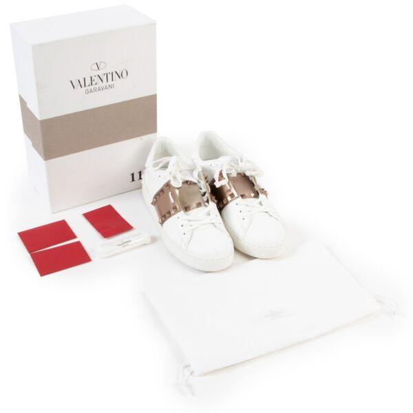 Valentino White Sneakers - Size 39