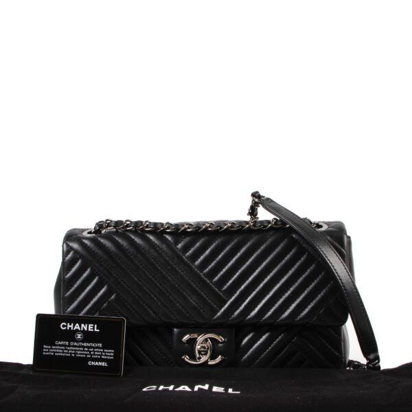Chanel Black Timeless Chevron Flap Bag