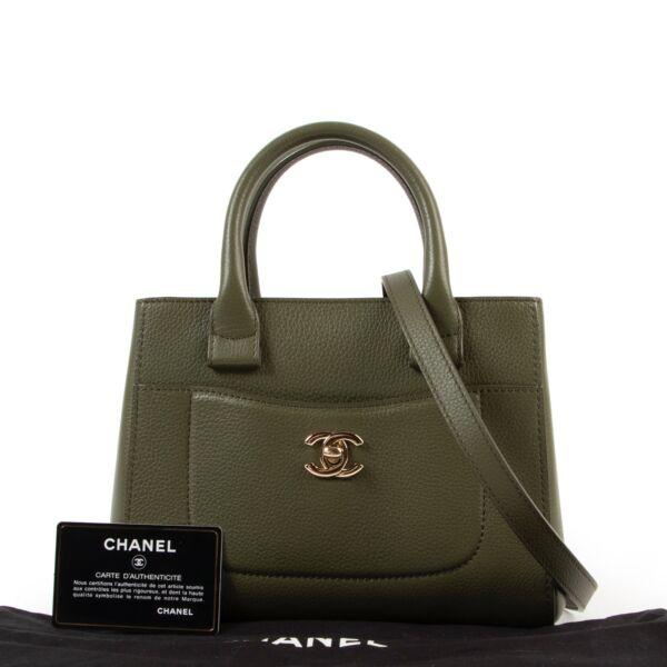 Chanel Green Mini Neo Executive Tote Bag