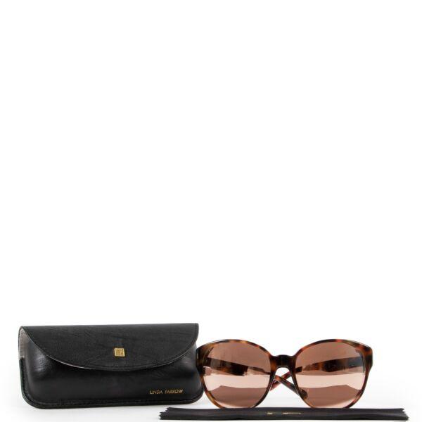 Linda Farrow Leopard Sunglasses