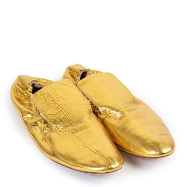 Dries Van Noten Gold Loafers - Size 40,5