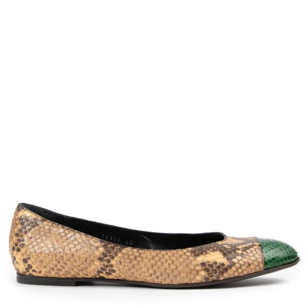 Buy authentic pair of  second hand Dries Van Noten Python Loafers size 40 at Labellov