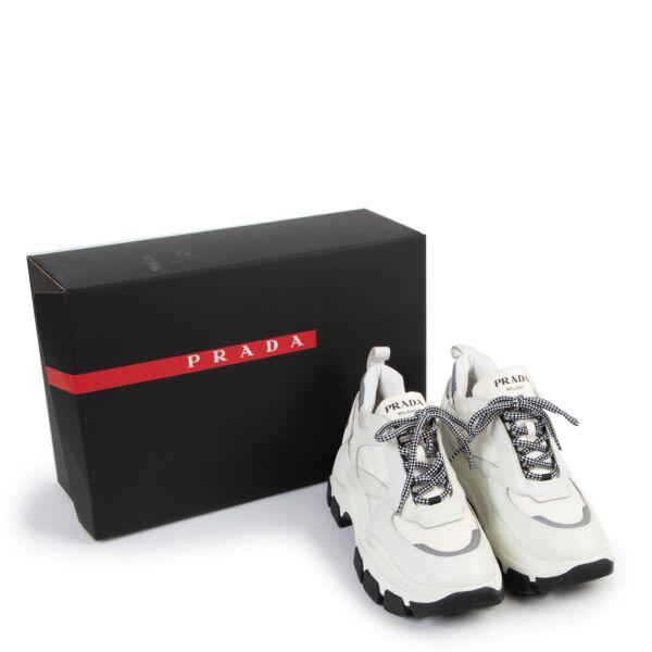 Prada Block White Sneakers - Size 40