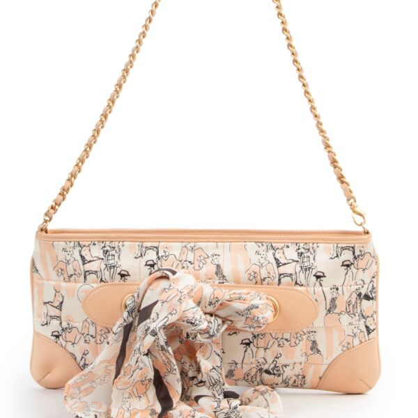 Chanel Peach Pink Coco Mademoiselle Scarf Shoulder Bag