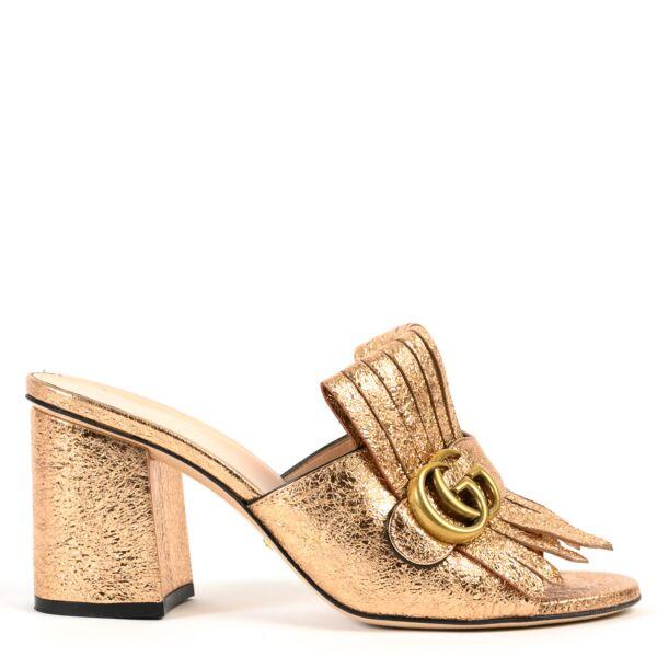 Gucci Rose Gold Marmont Pumps - Size 38