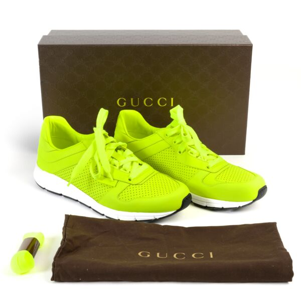 Gucci Neon Yellow Sneakers - Size UK 7
