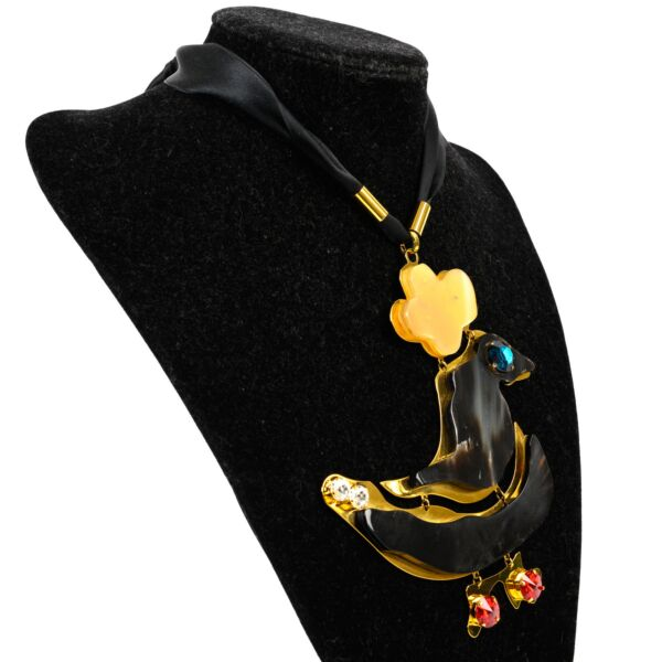 Shop safe online 100% authentic second hand Marni Duck Charm Necklace in very good condition at Labellov in Antwerp.