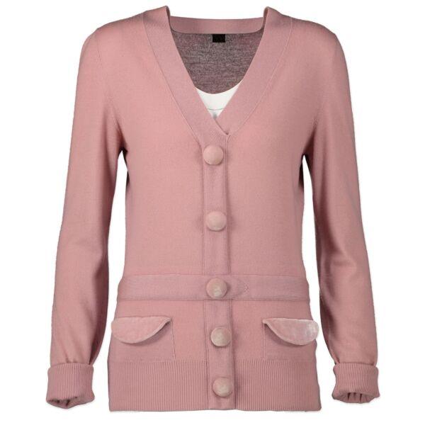 Louis Vuitton Pink Cashmere Knit Cardigan Jumper - L