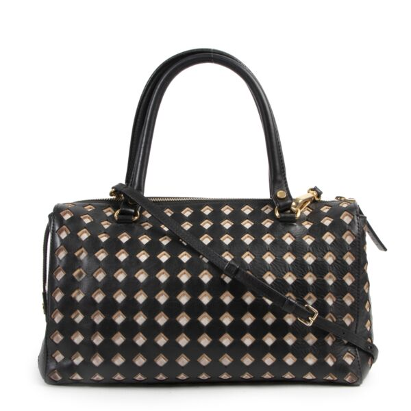 Marni Black Cutout Calfskin Leather Tote for the best price at Labellov secondhand luxury in Antwerp