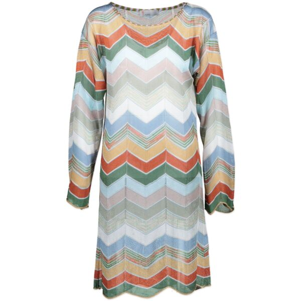 Buy authentic Missoni multicolor dress at the right price at Labellov designer vintage webshop.