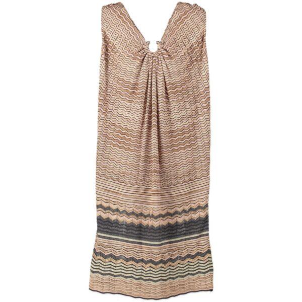 Missoni Multicolor Dress on Labellov vintage site with Luxury designer clothes