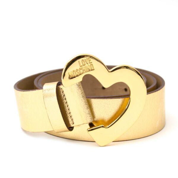 koop online aan de beste prijs Moschino Gold Heart Belt