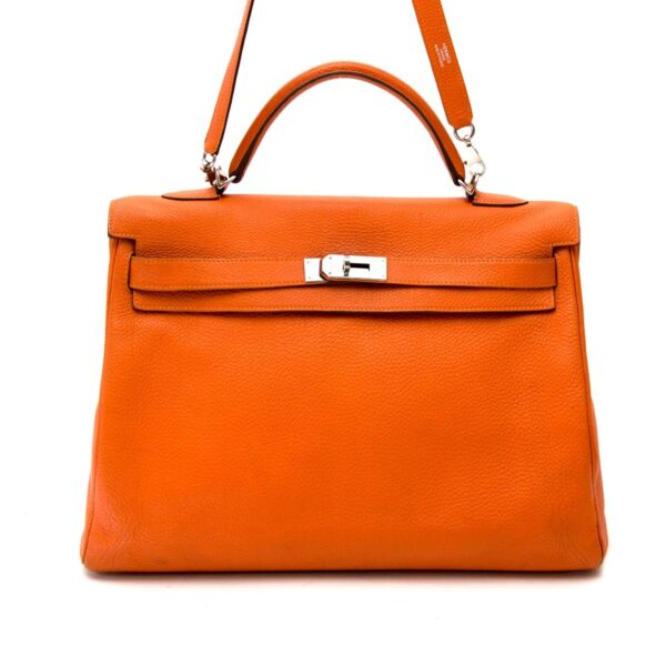 searching for the perfect hermes Christmas bag ? Hermes Kelly 40 Togo Orange PHW worldwide shipping