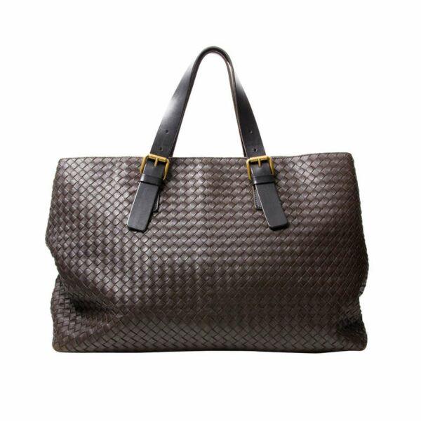 Bottega Veneta cuir brun grand sac tote prix correct labellov en ligne webshop marques designer vintage luxe Anvers Belgique