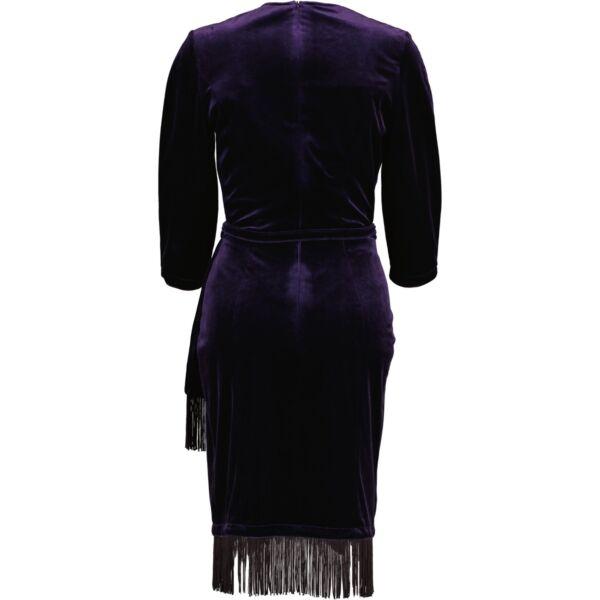 Thierry Mugler Blue Velvet Dress - Size 40