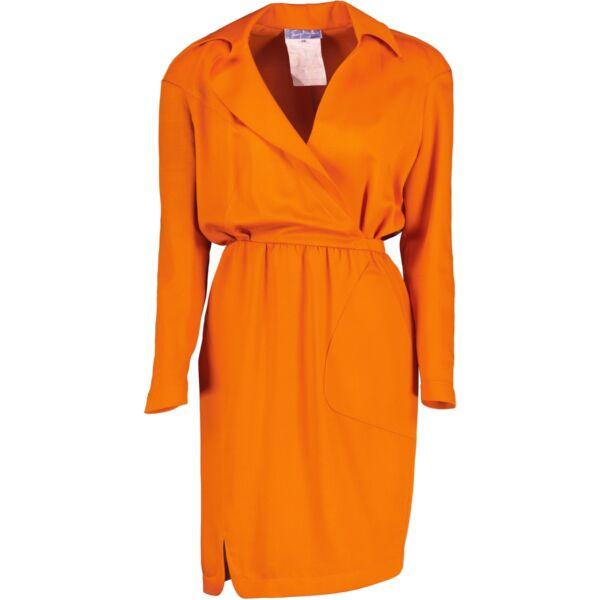 Orange Thierry Mugler dress in very good condition
