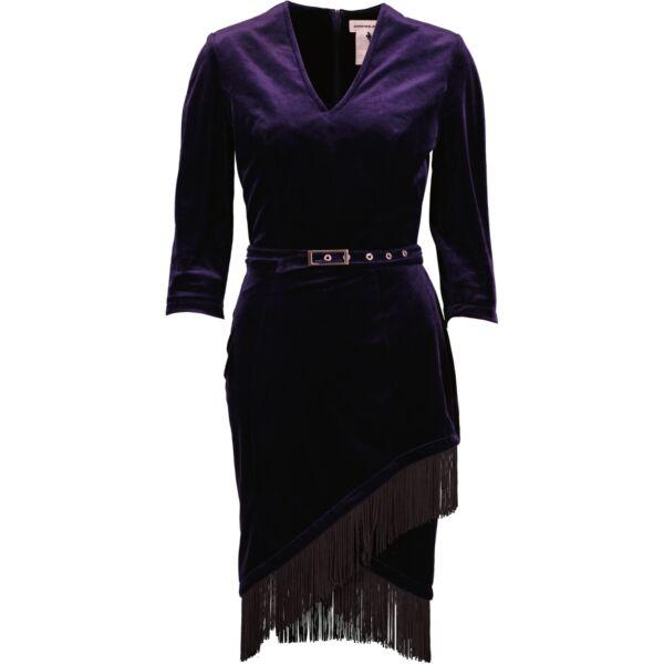 Blue velvet Thierry Mugler dress
