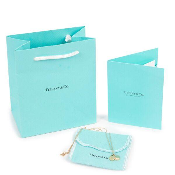 Tiffany & Co Mini Double Heart Tag Pendant Yellow Gold
