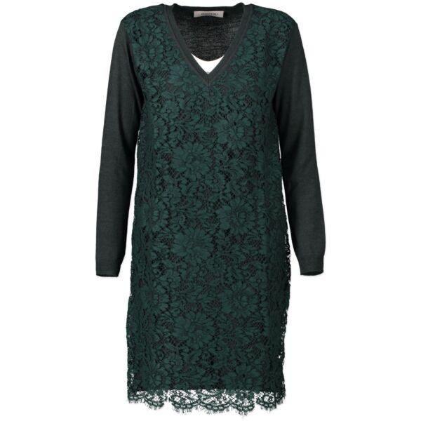 Valentino Green V-neck Lace Dress - size XS