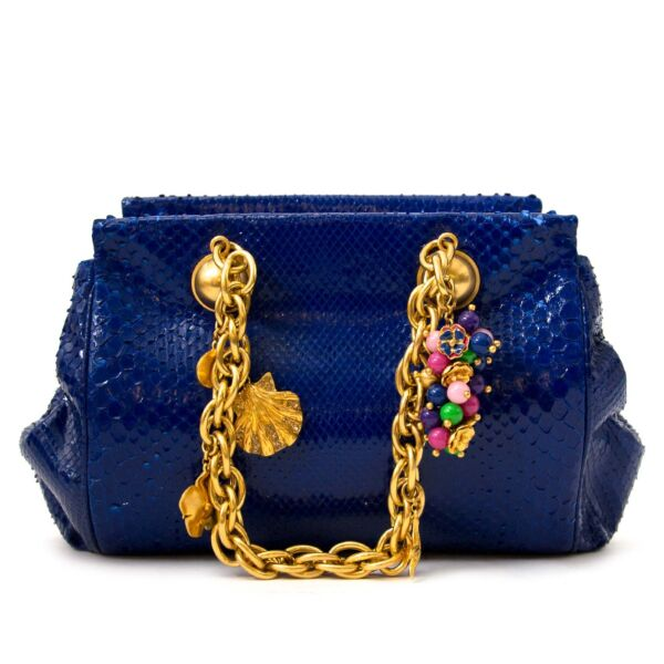 Buy authentic Versace python bags now online at labellov vintage webshop