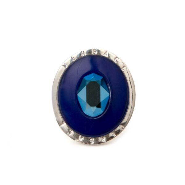 koop veilig online jou tweedehands Versace Blue Gem stone Ring