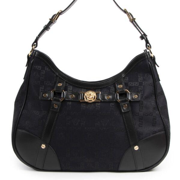 Versace Black Fabric Medusa Shoulder Bag for the best price at Labellov