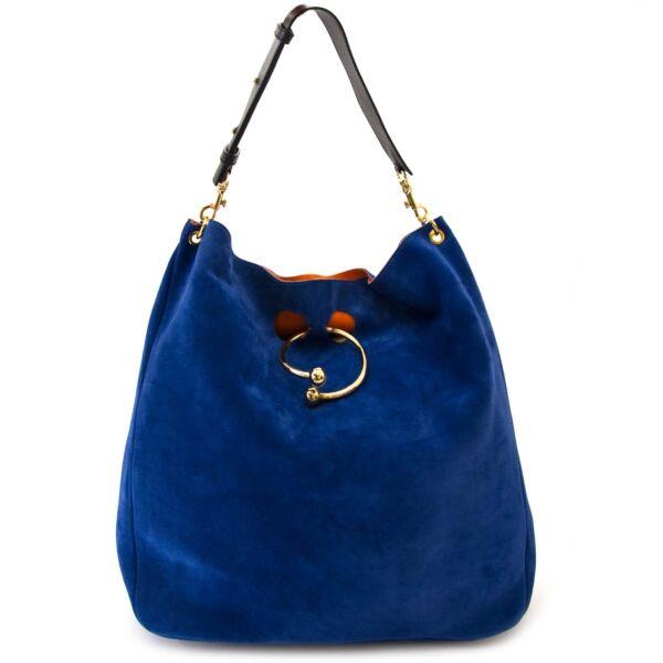 JW Anderson large hobo piercing bag royal blue now for sale at labellov vintage fashion webshop