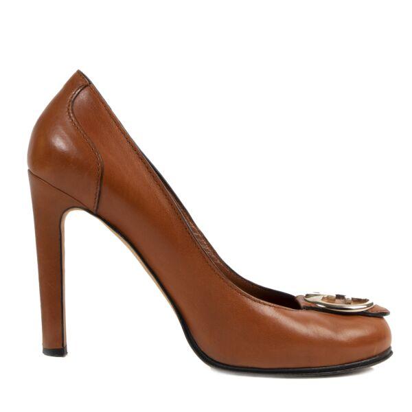 Gucci Cognac GG Logo Heels aan de beste prijs bij Labellov