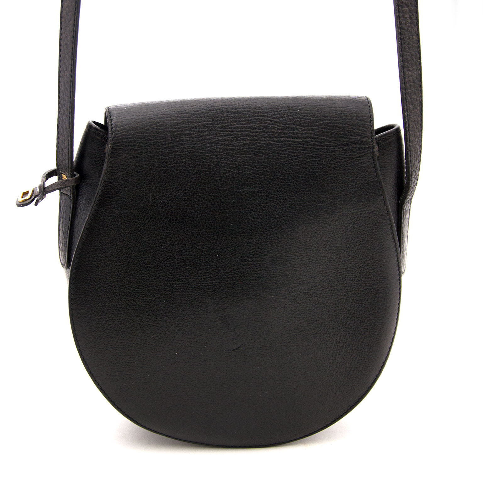 Delvaux Black Cross Body Bag available at Labellov showroom in Antwerp.
