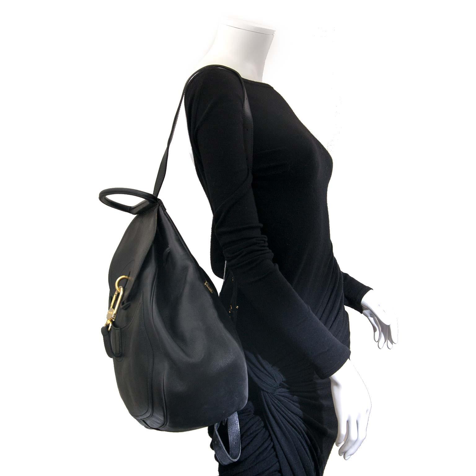 delvaux black cerceau backpack now for sale at labellov vintage fashion webshop belgium