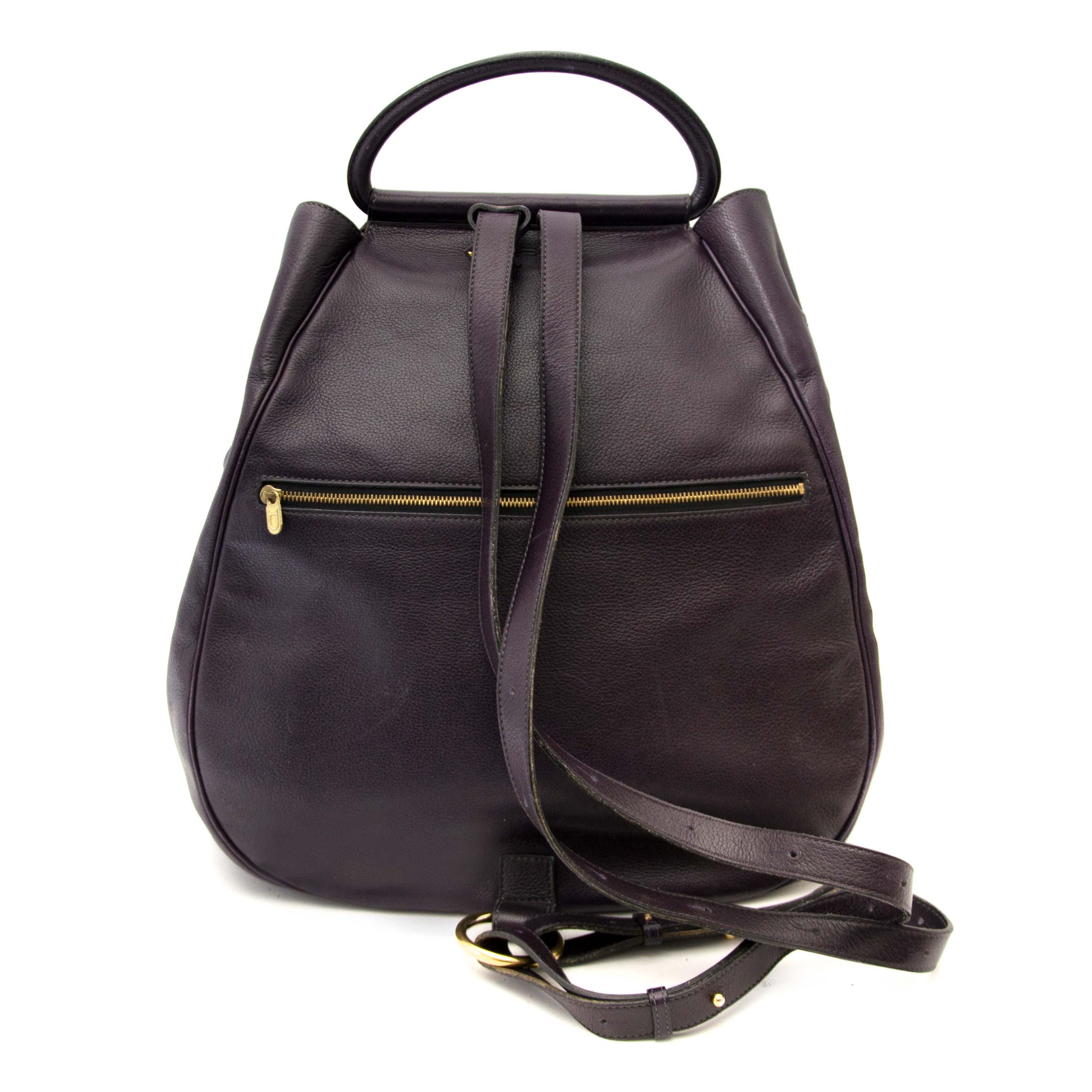 shop online your secondhand Delvaux Dark Purple Cerceau Jumping Bag