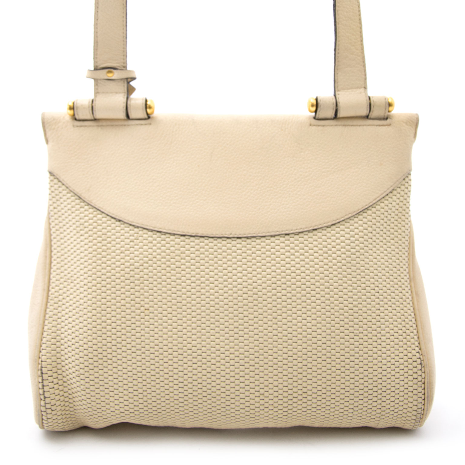 Authentic Delvaux Beige Chablis Toile de Cuir Bag at the right price 2017
