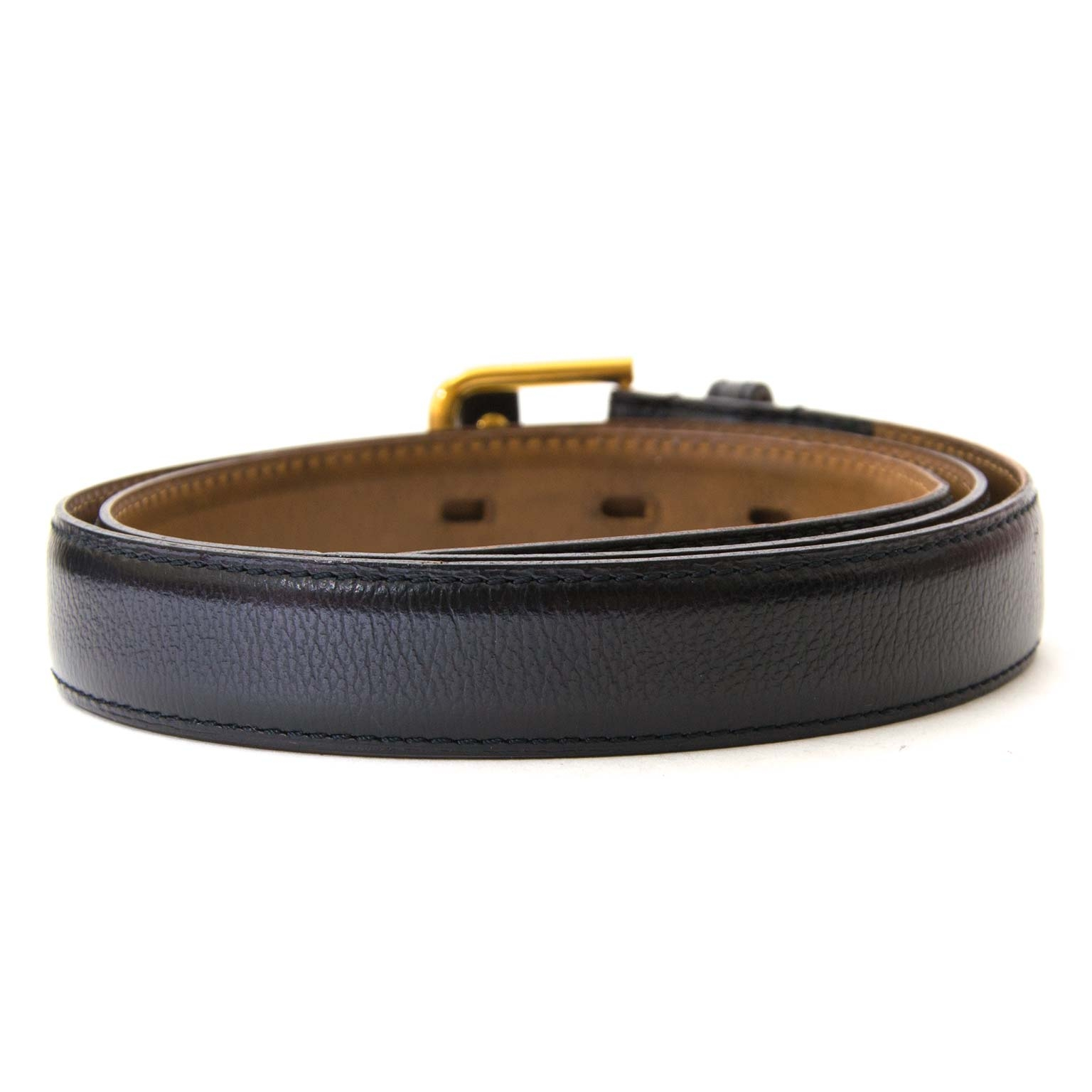 d119dc3d66d ... buy Delvaux Black Leather Belt at labellov for the best price